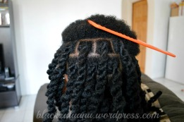 Beautiful chunky twists using 2# strands of marley hair