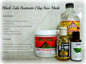 Diy Bentonite Clay Face Mask Black Zulu