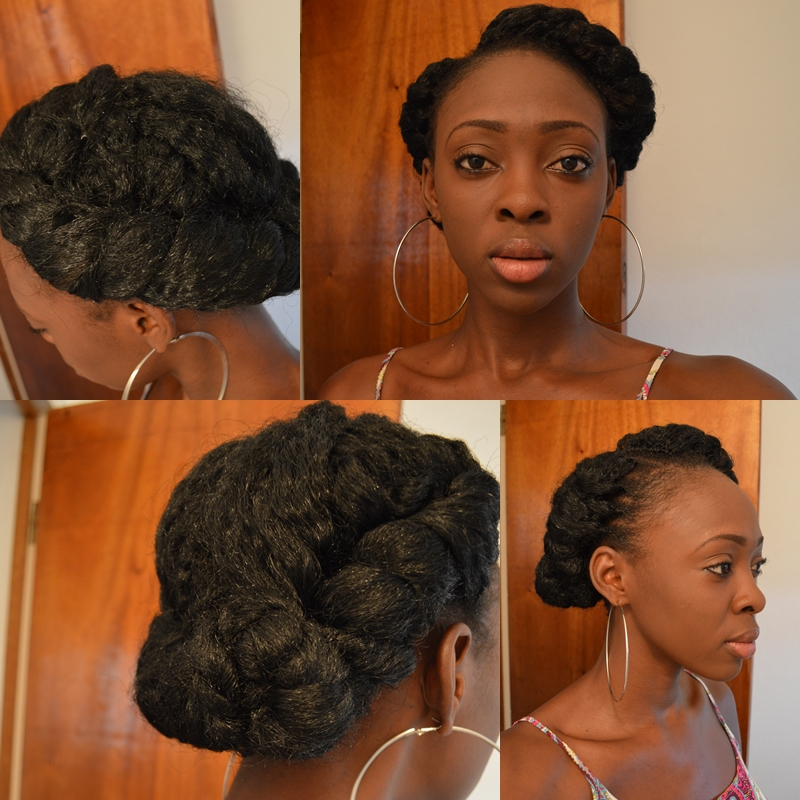 Crochet Hair In A Bun : Crochet Marley Braids: Style #2 - The Twisted Side Bun [2 variations ...