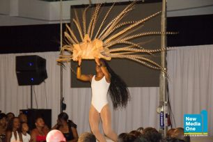 Performer with waist length locs!